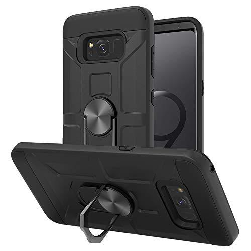 Cuoqing Hülle für Samsung Galaxy S8, 360 Grad Ring Handy Hüllen Cover Bumper Schutzhülle Case für Samsung Galaxy S8 Handyhülle