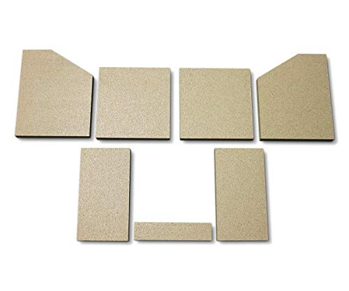Feuerraumauskleidung für den HWAM 4 Kaminofen - Vermiculite - 7-teilig