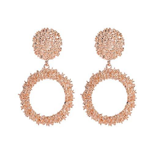 Minshao - 1 par de pendientes de aleación de estilo bohemio para mujer oro rosa Talla:as the picture shown