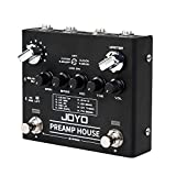 JOYO Preamp House R-15 R Series Dual Channel Preamp Simulator Cabinet Simulation Effect Pedal Features Clean and Distortion Channel for Electric Guitar (R-15)