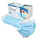Pac-Dent iMask Premium Medical Grade ASTM Level 3 Face Masks, Certified by Nelson Labs, Blue, 50-Pack