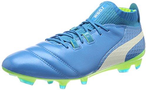 Puma PUMA Herren ONE 17.1 FG Fußballschuhe, Blau (Atomic Blue- White-Safety Yellow), 40 EU