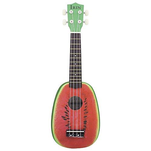 "Andoer IRIN 21"" Ukelele 4 Strings Colorful Lovely Watermelon / Kiwi Basswood Stringed Musical Instrument Christmas Gift Present"