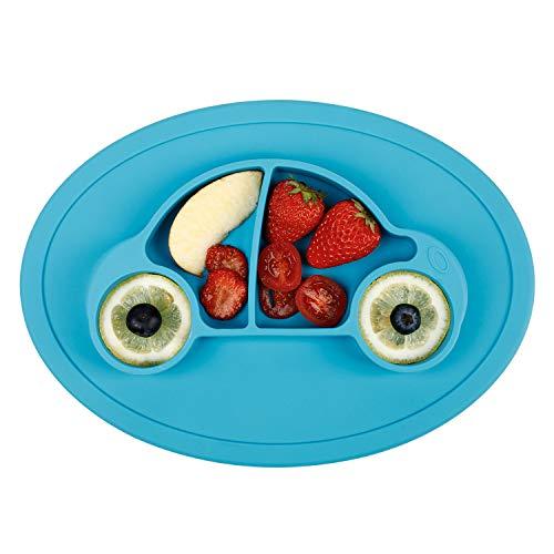 FUTURE FOUNDER Baby Teller Schüssel Mini Silikon Tischset für Baby Kleinkinder und Kinder Tragbar Teller Baby Rutschfest Babyteller mit Saugnapf Kinder Tischset Abwaschbar für Spülmaschine, Mikrowelle