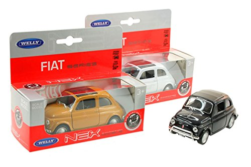 Welly – Fiat 500 Klassiek in Box-raam, 21554z, meerkleurig