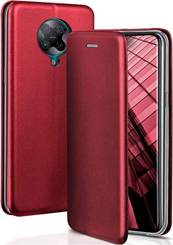 ONEFLOW Handyhülle kompatibel mit Xiaomi Poco F2 Pro - Hülle klappbar, Handytasche mit Kartenfach, Flip Hülle Call Funktion, Klapphülle in Leder Optik, Schwarz