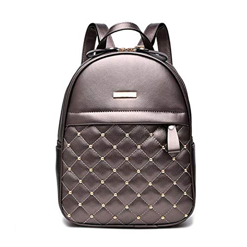 Womens Backpack Women Backpack Fashion Causal bags bead female shoulder bag PU Leather Backpacks for Girls