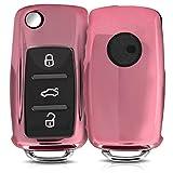 kwmobile Accessoire Clef de Voiture pour VW Skoda Seat - Coque en Silicone pour Clef de Voiture VW Skoda Seat 3-Bouton - Housse de...