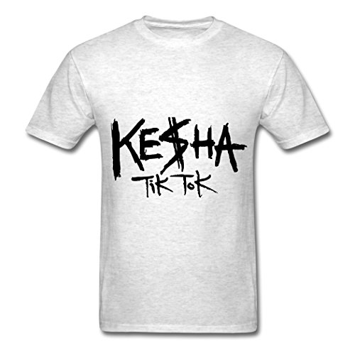 Ty Kesha TIK Tok Logo T Shirt para Hombre Light Oxford