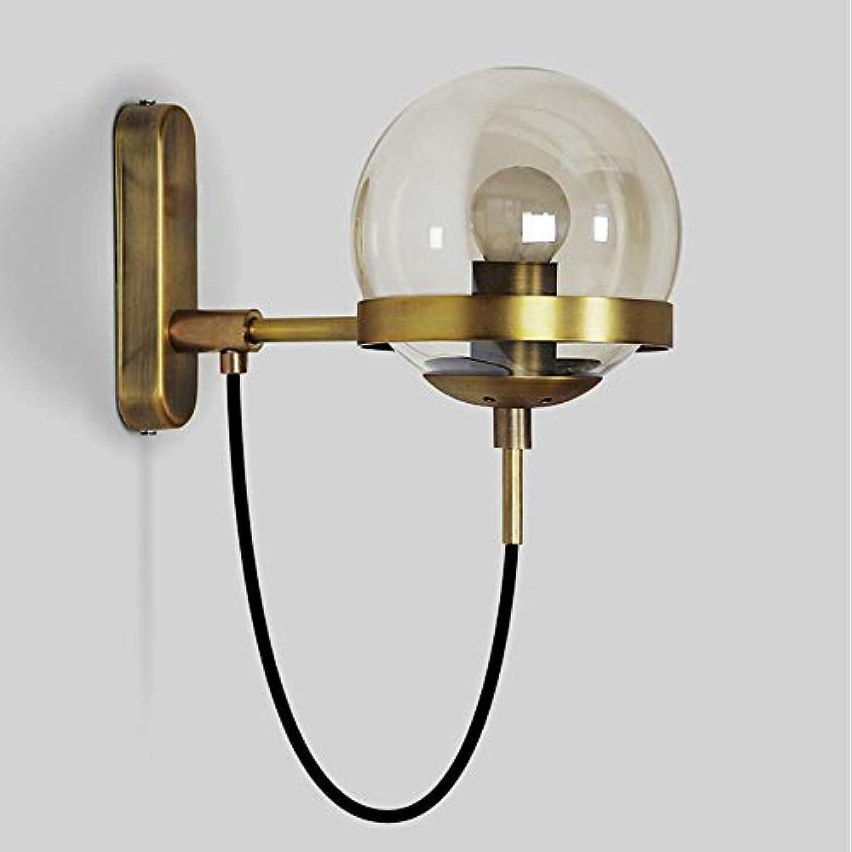 Elegent Moderne minimalistische Design Wandleuchte Glaswandleuchte Metallwandleuchte Wohnzimmer Esszimmer Schlafzimmer Dekoration Beleuchtung Cozy (Farbe   Gold)