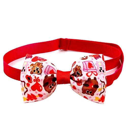 househome Pajarita para perros, collar de perro con pajarita, 1 pieza, hermosa pajarita ajustable hecha a mano, collar para perro y gato para San Valentín y decoración festiva
