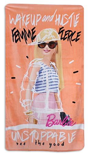 telo mare barbie Barbie asciugamano da spiaggia per bambine 70 x 140 cm in cotone