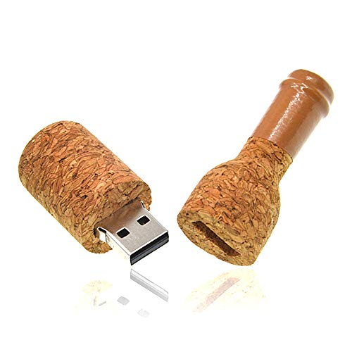 16GB Memoria USB Bosque de Tapón Pendrive Madera USB 2.0 Pen Drive Guay 16 GB Botella de Vino Memorias Externo Stick Creativo Flash Drives Portátil Llavero Regalo de Almacenamiento de Datos de Kepmem
