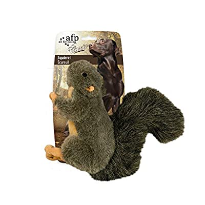ALL FOR PAWS Pet Squirrel Plush Dog Toys With Squeaker, (22 x 24 x 9 cm/8.7 x 9.4 x 3.5 Inch), Large Size (Squirrel)