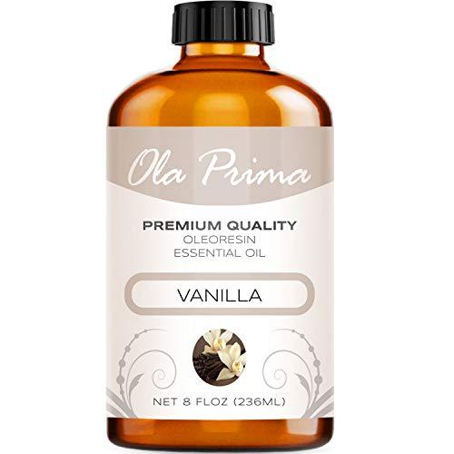 Ola Prima 8oz - Premium Quality Vanilla Essential Oil (8 Ounce Bottle) Therapeutic Grade Vanilla Oil