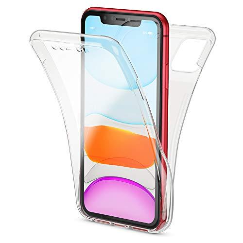 NALIA 360 Grad Handyhülle kompatibel mit iPhone 11, Dünne Full-Body Silikon Hülle Rundum Cover Case, Ultra-Slim Schutzhülle Handy-Tasche, Phone Komplett-Schutz & Displayschutz, Farbe:Transparent