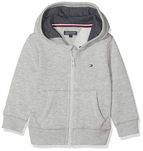 Tommy Hilfiger Jungen Boys Basic Zip Hoodie Sweatshirt, Grau (Grey Heather 004), One Size (Herstellergröße: 74)