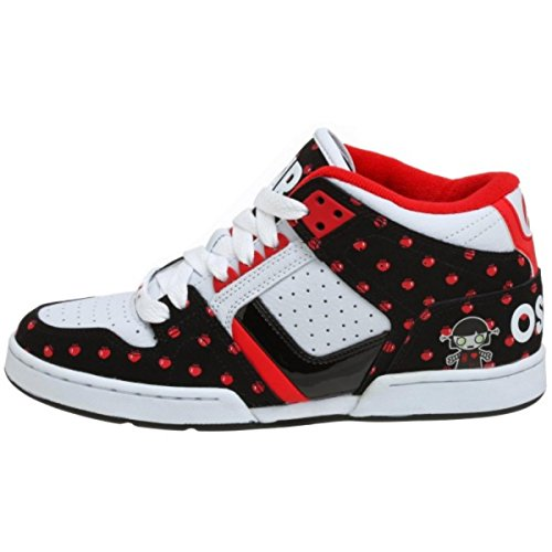 Osiris Skateboard Schuhe South Bronx Girls White/Black/Radio Heart/Lucy Lies, Schuhgrösse:37.5