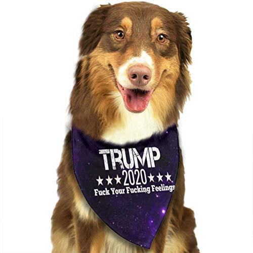 Sdltkhy Trump 2020 FCK Your Feelings klassisches süßes Bandana Dreieck Lätzchen Schal für Haustier Katze Welpe Hund
