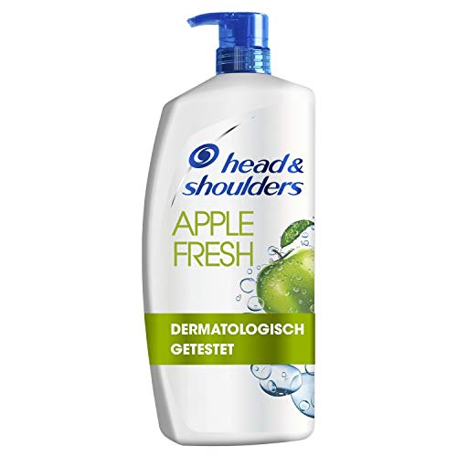 Head & Shoulders XXL Apple Fresh Anti Schuppen Shampoo, Pumpspender, Shampoo gegen Schuppen, Juckreiz und Trockene Kopfhaut, mit Langanhaltendem Apfelduft, Haarpflege, XXL Shampoo Spender, 900ml
