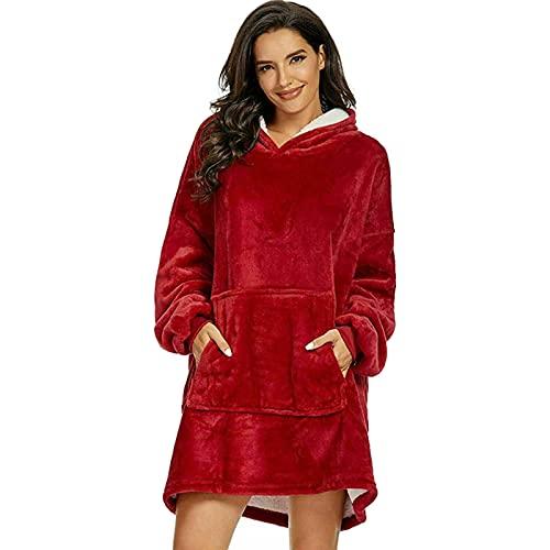 Qagazine Manta con capucha de gran tamaño, manta con capucha para llevar con capucha, muy suave, cálida y cómoda, para todos, hombres, mujeres, niñas, niños, amigos