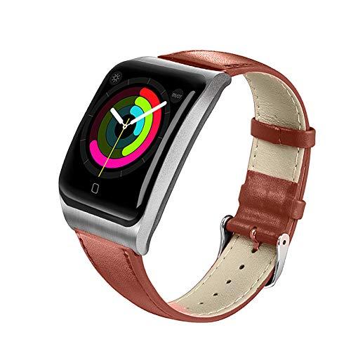 YHDQ 3,3 cm Bewegungs-Tracker Farbbildschirm EKG + PPG Herzfrequenz Blutsauerstoff IP68 wasserdicht geeignet für Android iOS Smart Watch