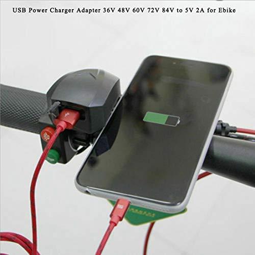 Lenker USB Power Ladegerät Adapter 36V 48V 60V 72V 84V bis 5V 2A für Ebike BODYART