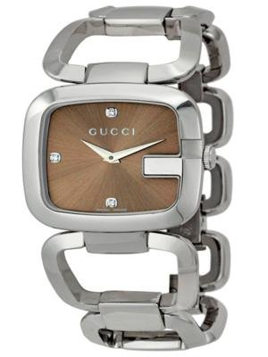Gucci Damen-Armbanduhr Analog edelstahl Silber YA125401