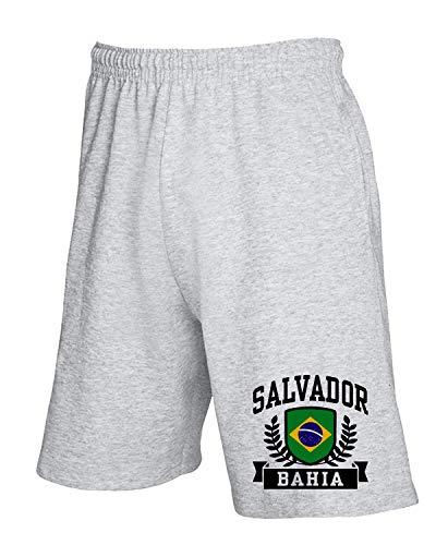 T-Shirtshock Jogginghose Shorts Grau TSTEM0084 Salvador Bahia Brazil