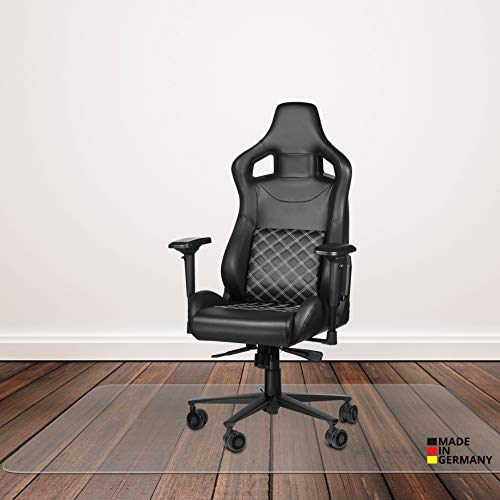 Königwerk® Bodenschutzmatte Bürostuhl - rutschfeste Schreibtischstuhl Unterlage - 91x122 cm - Made in Germany - Bürostuhlunterlage für Hartböden