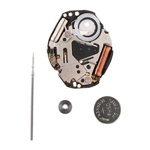 F Fityle Movimiento Mecanismo para Reloj de Cuarzo Japón Miyota VX51 con Barra de Reparación