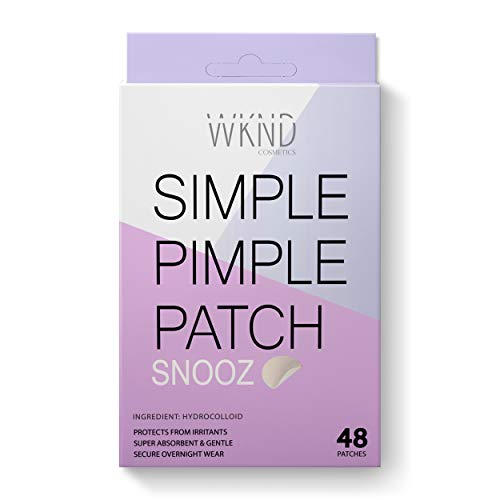 Simple Pimple Patch(Snooz) - 48 Hydrocolloid Acne Patches| Vegan Pimple Patches For Face | Natural Zit Patch | Acne Absorbing Cover Patch | Overnight Healing Blemish Patches, Acne Dots, Zit stickers