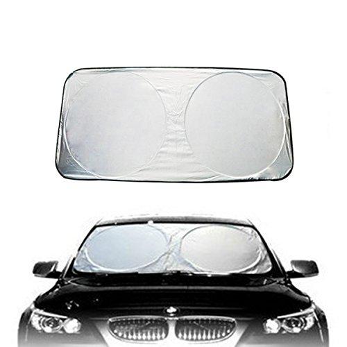 XFAY Pare-Soleil Fenêtre Devant de Voiture Auto Bébé Enfant - 100% Refletant Rayon de Soleil et Absorbant Les Rayons Utraviolets - Couverture de Voiture Quand Parking - 1 Pièce