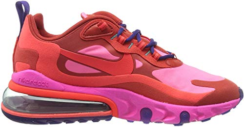 Nike Damen W Air Max 270 React Laufschuh, Mystic Red/Bright Crimson-Pink Blast, 39 EU