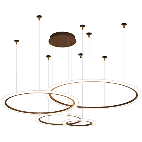 Lámpara colgante LED 81W Dimmable Moderno Redondo Redondo Acrílico Mesa de comedor Lámpara colgante Sala de estar Lámpara de araña Oficina de araña Iluminación creativa ( Color : Warm Light 3200K )