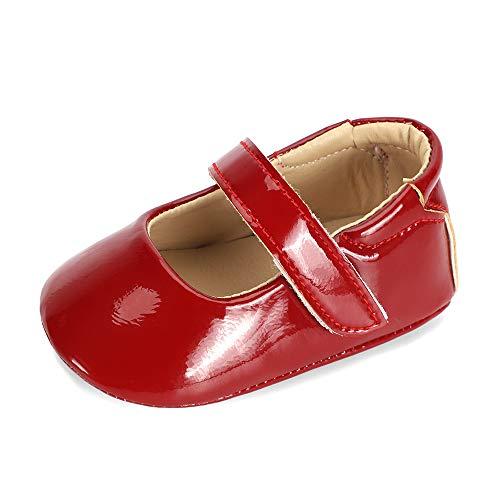 LACOFIA Baby Meisjes Mary Jane Schoenen Baby Antislip Prinses Eerste Schoentjes Ballerina