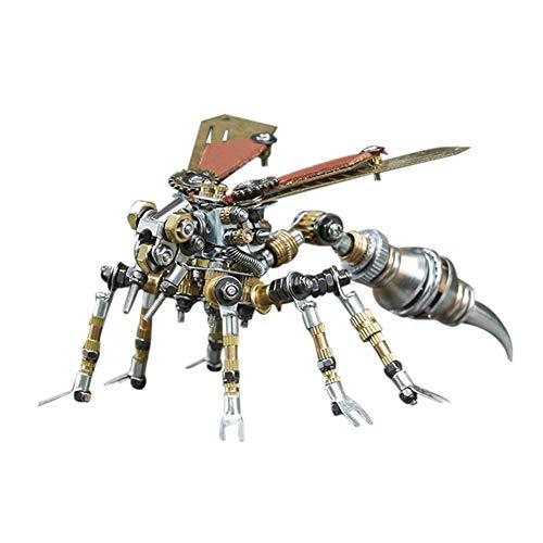 XDJ Puzzle 3D Metallpuzzle, Wespe Metallmodell, Steampunk Insekt Serie, 295 Stücke,...