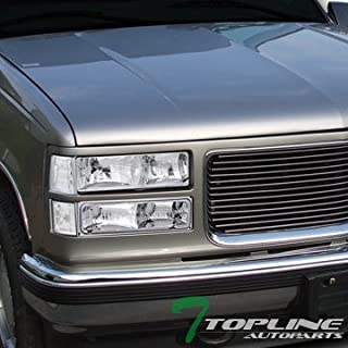 Topline Autopart Chrome Head Lights Dy+Signal Bumper...
