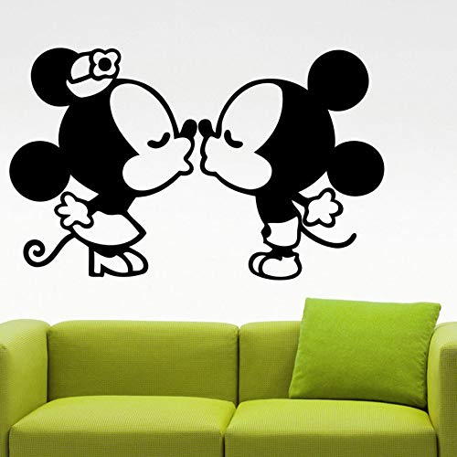 Tianpengyuanshuai Kissing Mouse Wall Sticker Vinyl Decal Wall Decal Home Children's Room Decoration 67X42cm