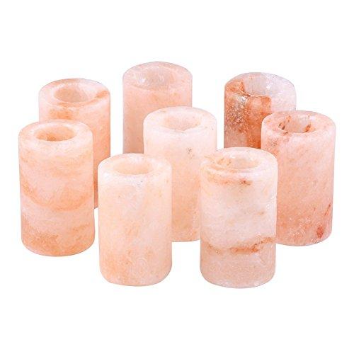Pink Himalayan Salt Shot Glasses | Best Salted Tequila Shot Glasses 100% Pure, 1.2 oz 3inch Carved Salt Rock Shooter Glasses 8 Pc Set
