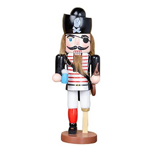 25 Cm Decoraciones de marionetas Pirata Capitán Armada Cascanueces Soldados de marionetas Decoración