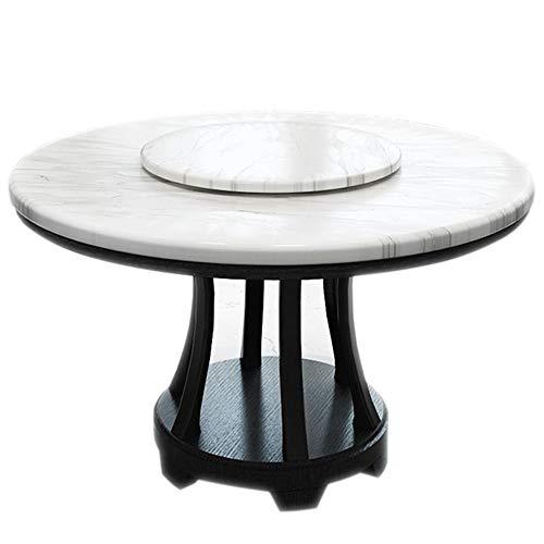 AIWOJIAJU Modern Round Dining Table Mesa De Mármol Base De Madera Maciza, Disponible En Tres Tamaños (120cm,White)