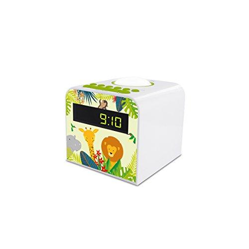 Metronic 477044 Radio réveil veilleuse enfant style Jungle - vert et blanc vert