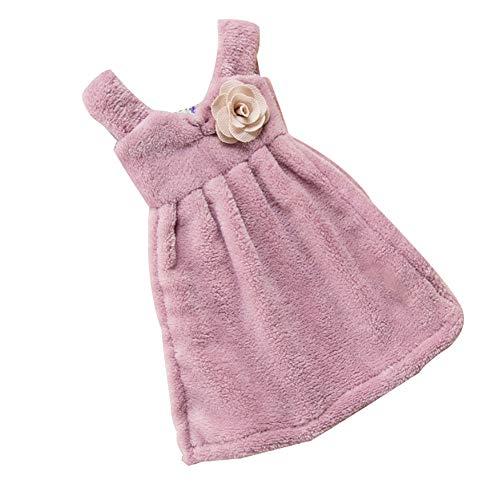 Dyyicun12 Hanger Handdoek Mooie jurk Super Absorbens Keuken Koraal Fluweel Badkamer Purple