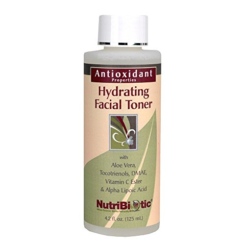 NutriBiotic – Antioxidant Properties Hydrating Facial Toner, 4.2 Fl Oz With GSE   with Peptides, Aloe, DMAE, Vitamin C Ester, Tocotrienols & Alpha Lipoic Acid   Natural Fragrance   Paraben Free