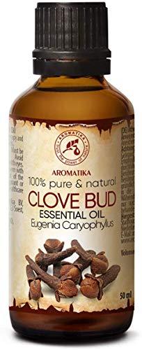 Aceite de Clavo 50ml - Eugenia Caryophyllus - Indonesia - 100% Natural & Puro - Para el Bienestar - Belleza - Aromaterapia - Difusor - Difusor Aromático - Lámpara de Aroma - Clove Bud Essential