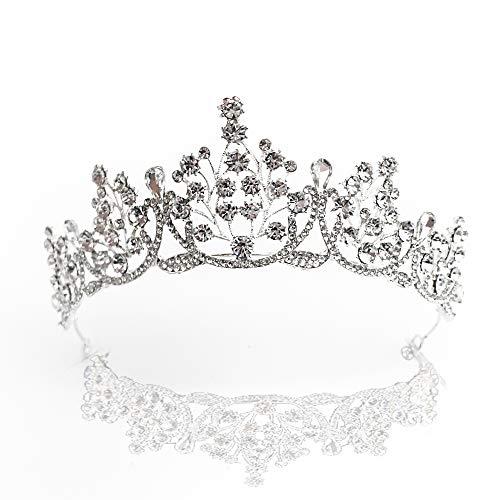 Schneespitze Kristalle Prinzessin Krone, Krone Stirnband Hochzeit Diadem Hochzeit Reifen Diadem für Hochzeit Festzüge für Hochzeitsfeier Bühnenauftritte