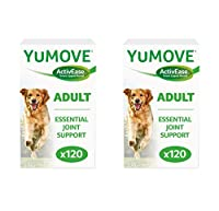 Lintbells Yumove Dog Joint Aid Supplement - 2x Boxes of 120 tablets (Total of 240 tablets) YUMOVE will support active and working dogs, and give older dogs a new lease of life.