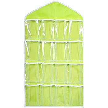 Evaluemart 16 Pockets Clear Hanging Bag for Socks Bra Underwear Cupboard Rack Hanger Storage Organiser