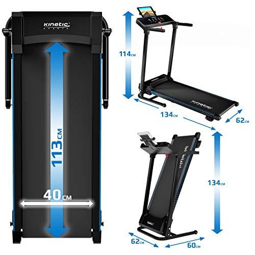 Kinetic Sports KST4600FX Laufband klappbar elektrisch 1100 Watt leiser Elektromotor 12 Programme, bis 120kg, GEH- und Lauftraining, Tablethalterung, bis 12 km/h, Steigung verstellbar - 7